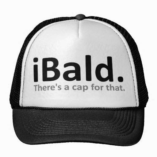 Funny Apple iBald There's a Cap For That Joke Picture