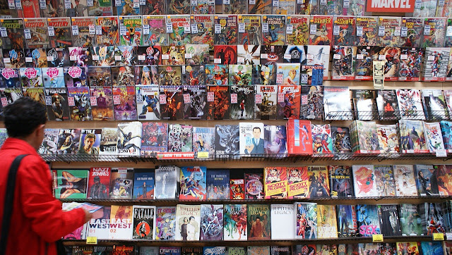 Huge selection of comic books and graphic novels