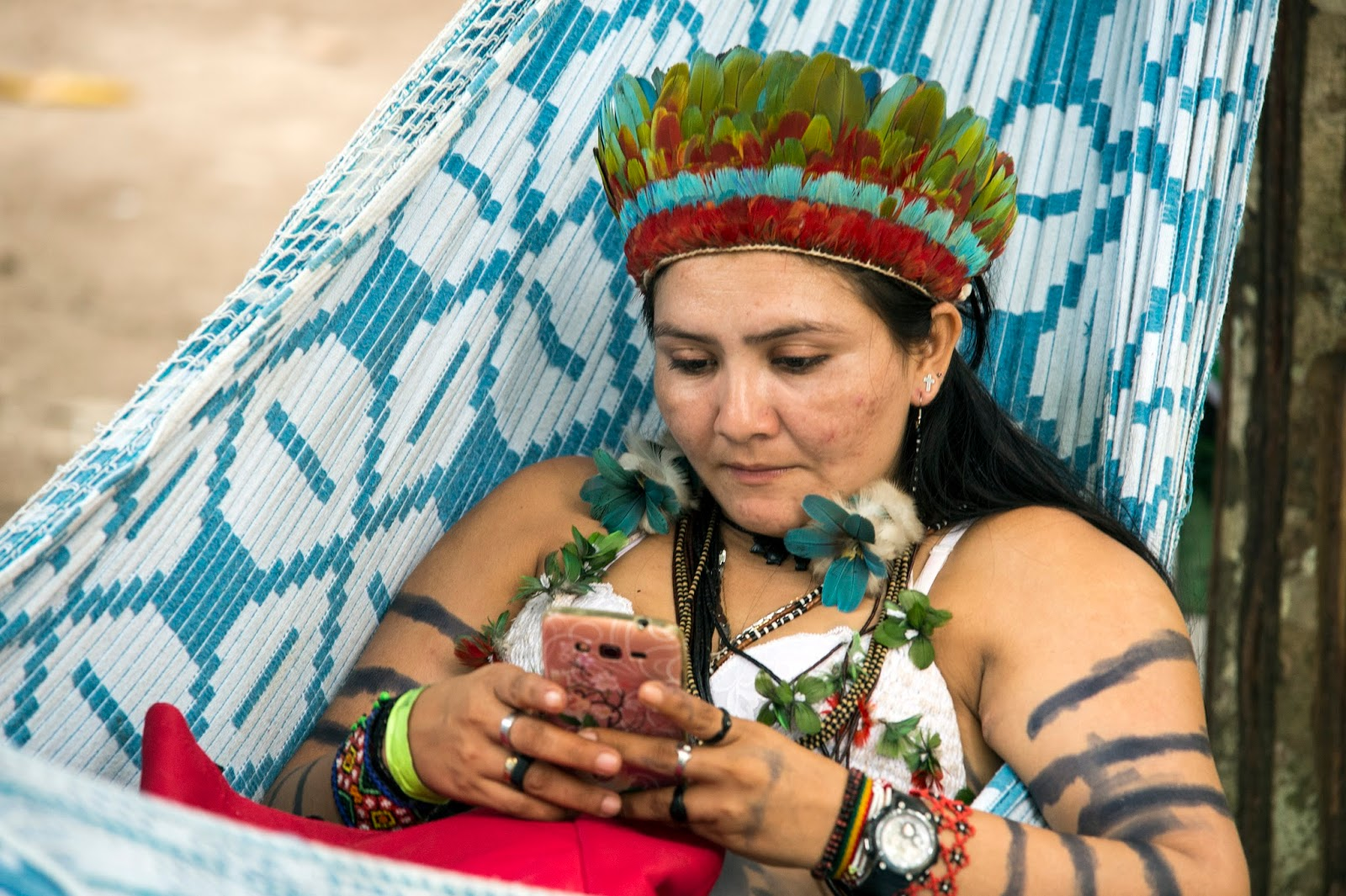 História dos nativos americanos, Indio xamã, Tatuagens