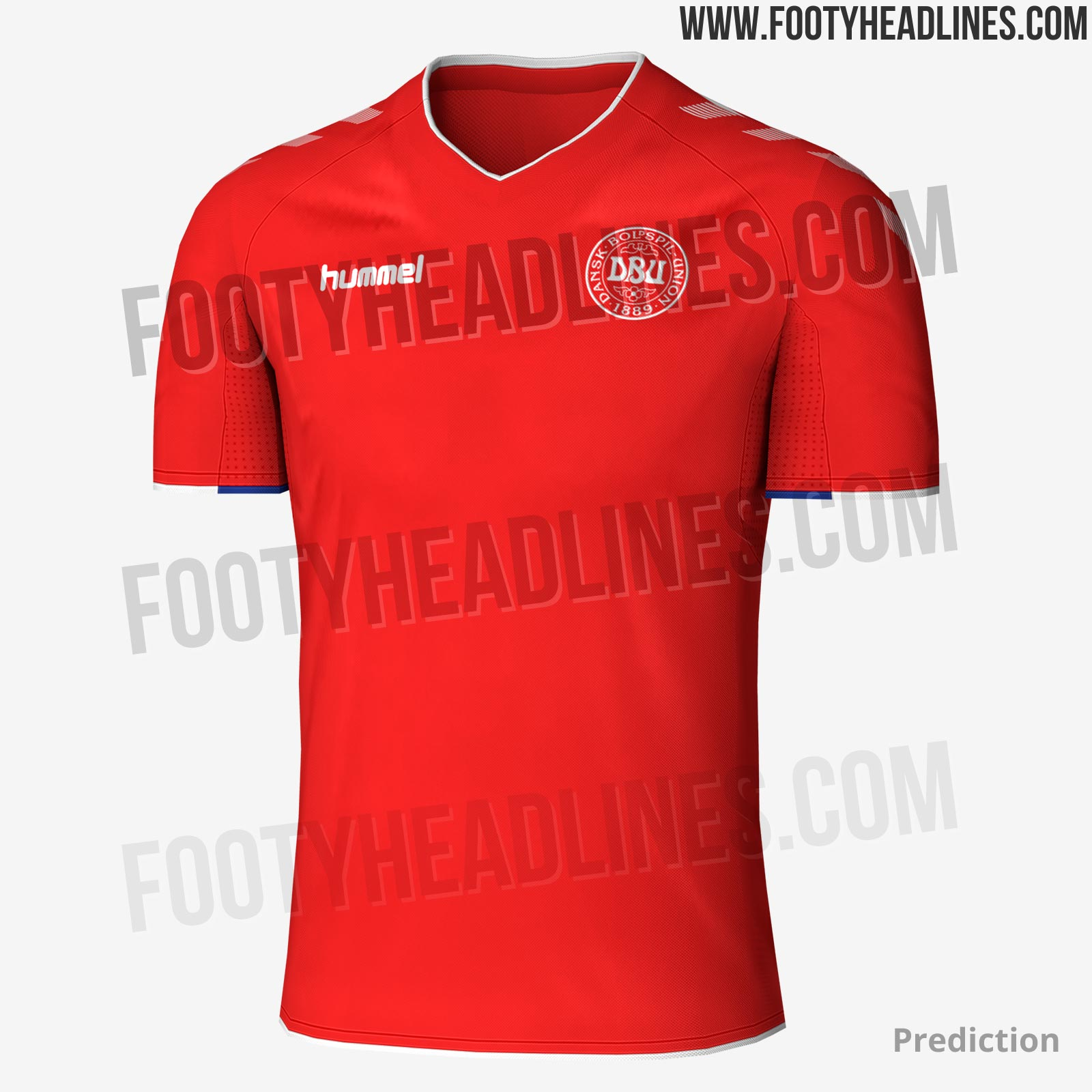 1c6a1fcad Hummel Denmark 2018 World Cup Home   Away Kits Leaked