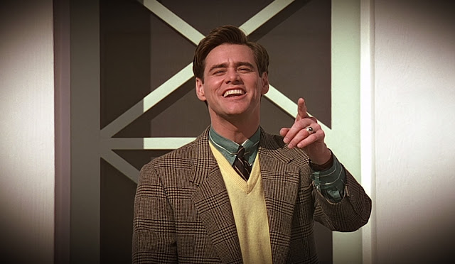 Jim Carrey as Truman Burbank in The Truman show, Directed by Peter Weir