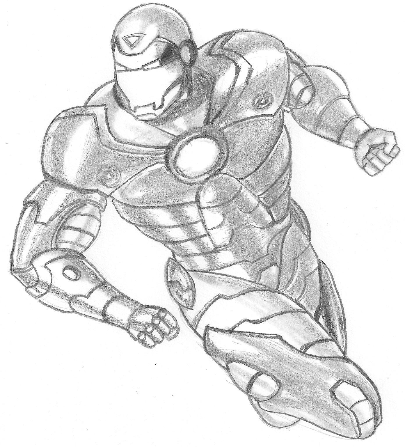 Baú Da Web: Desenhos Do Homem De Ferro Para Colorir