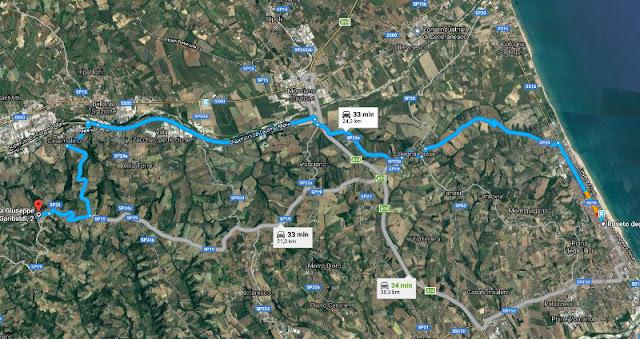 Foto del percorso da Roseto a Castellalto