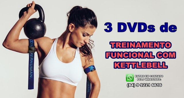 Preço especial: Kit 3 dvds de Funcional com Kettlebell