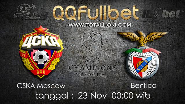 PREDIKSIBOLA - PREDIKSI TARUHAN BOLA CSKA MOSCOW VS BENFICA 23 NOVEMBER 2017 (UEFA CHAMPIONS LEAGUE)