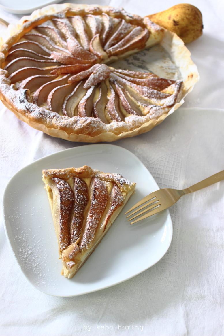Eine feine Birnentarte, schnell gemacht und mit Honig veredelt, das Rezept auf dem Südtiroler Food- und Lifestyleblog kebo homing