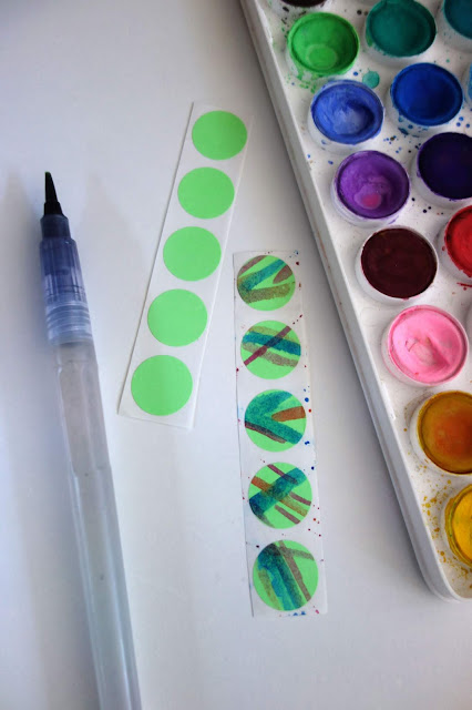 watercolor, paint your own stickers