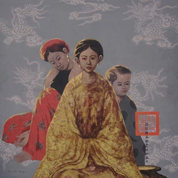 8 mẫu tranh sơn dầu bùi hữu hùng