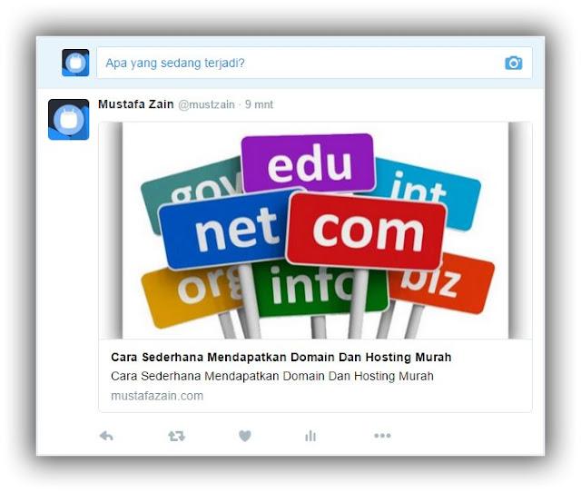 Cara Mudah Memasang Twitter Card di Blogspot dan Wordpress