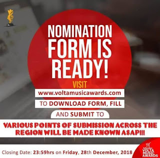 Classes Laid as Nomination Opens For Helloadipa Volta Music Awards.