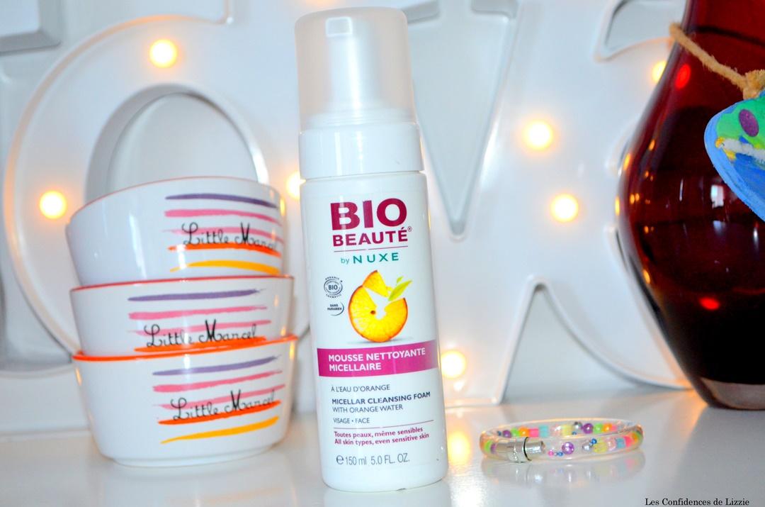 visage - nettoyant visage - nettoyant visage mousse bio - mousse bio - beaute nuxe - nuxe - marque de cosmetiques bio