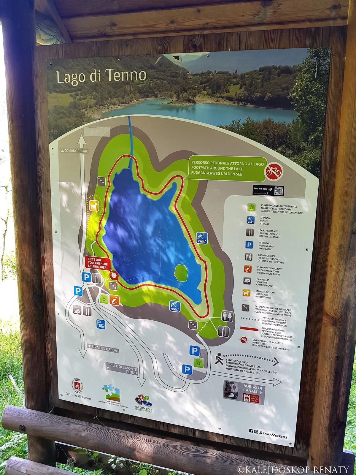 mapa jeziora Tenno