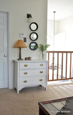 Greenery, White Dresser