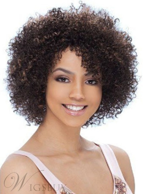 Top Quality Short Kinky Curly Capless Synthetic Hair Wig 10 Inches – Price:USD$49.49