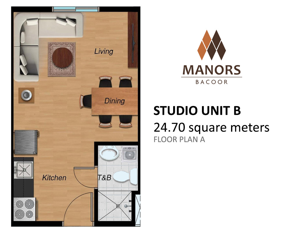 Manors Bacoor - Studio Unit B | Condominium for Sale Bacoor Cavite