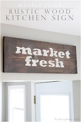 Market Fresh Rustic Kitchen Sign
