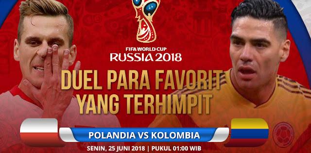 Polandia vs Kolombia