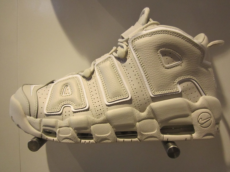 The Nike Air More Uptempo dropped last weekend and here are some detailed  images of the shoe. Just as the name of the colorway suggests, light bone  color ...