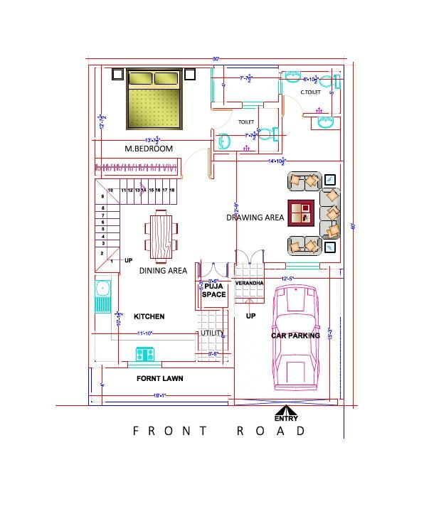 archplanest online house design consultants 30x40 sq ft