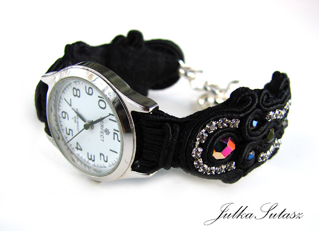 """Before midnight"" watch strap"