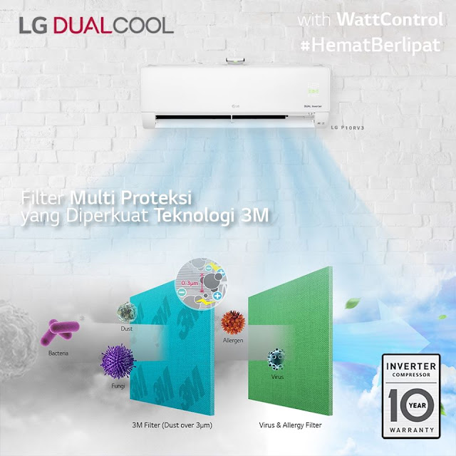 AC LG DUAL COOL with watt control
