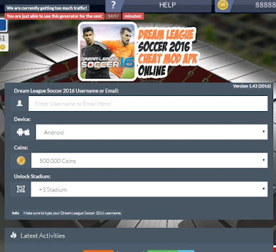 Cheat Dream League Soccer 2016 Mod Apk