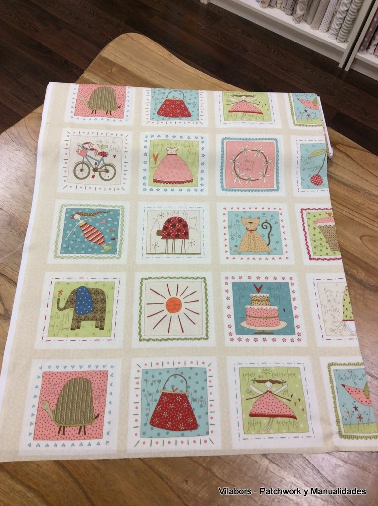 "Colección ""About a Boy & Girl"" de Henry Glass Fabrics - Blocks Girl color Cream - Patchwork Vilabors"