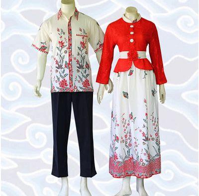 Baju Batik Kombinasi Brokat