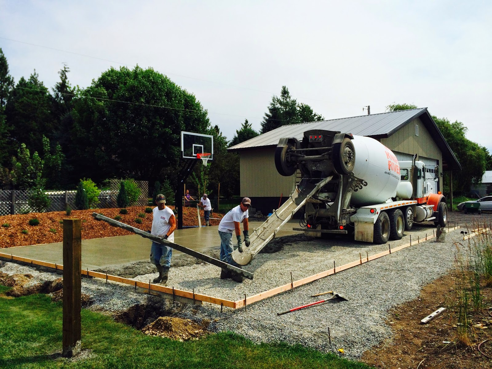 concrete slab for pickleball court