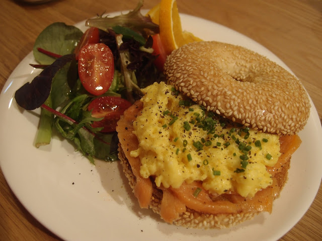 The Salmon & Scramble Bagel
