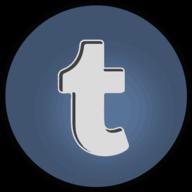 tumblr glowing icon