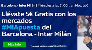 William Hill Promo Barcelona vs Inter 24 octubre