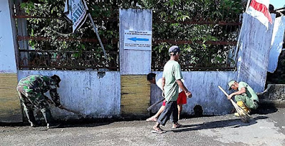 Jelang Penutupan, Bersih-Bersih Posko TMMD Dilaksanakan