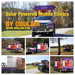 Solar Powered Mobile Clinics manufactured by Odulair
