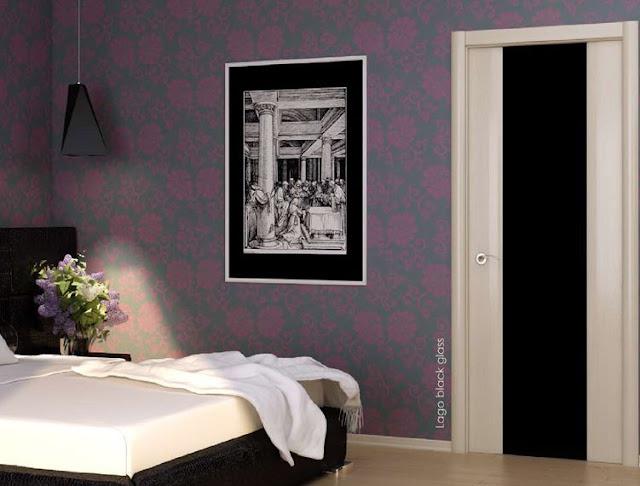 Межкомнатная дверь Casaporte Санремо 01 (Лакобель черное)