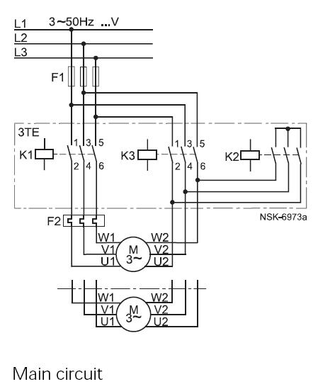 Typical circuit diagram of Star Delta starter | PLC, PLC