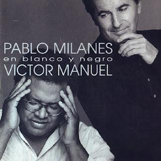 Pablo Milanés y Víctor Manuel. En blanco y negro