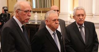 Οι τρεις νέoι Υπουργοί φωτογραφήθηκαν μαζί στην ορκωμοσία τους