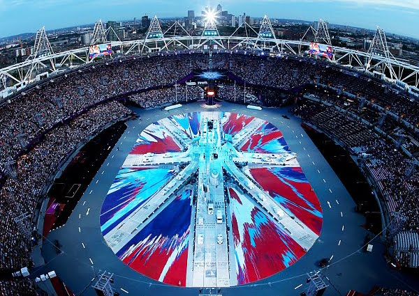 Damien Hirst's spin flag for the Olympics Opening Ceremony