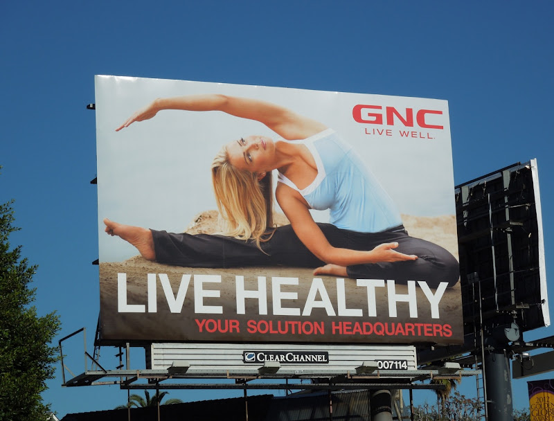 GNC Healthy stretching billboard