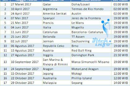 Jadwal Jam Tayang MotoGP 2017 Susunan Pembalap MotoGP 2017