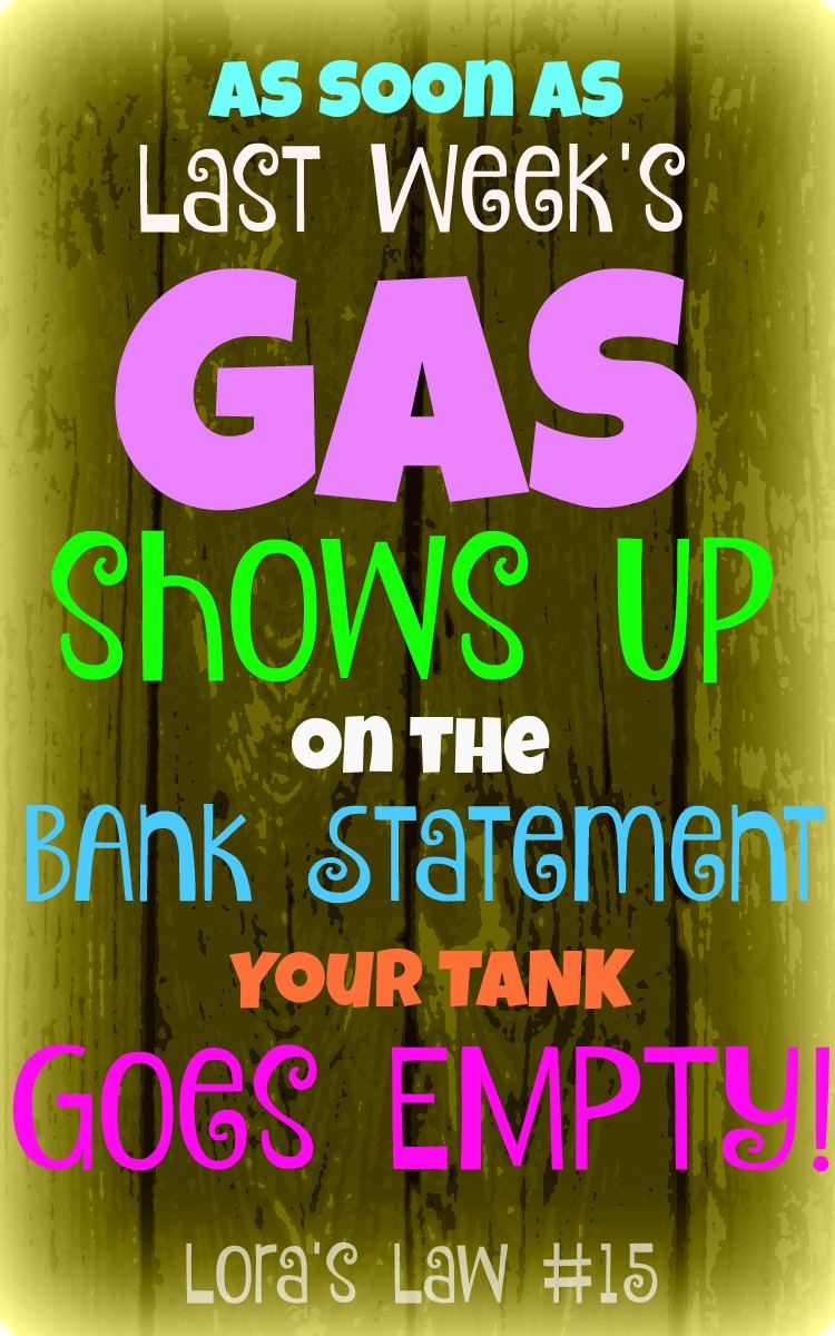 Empty Gas Tank Quotes: Lora's Law #15