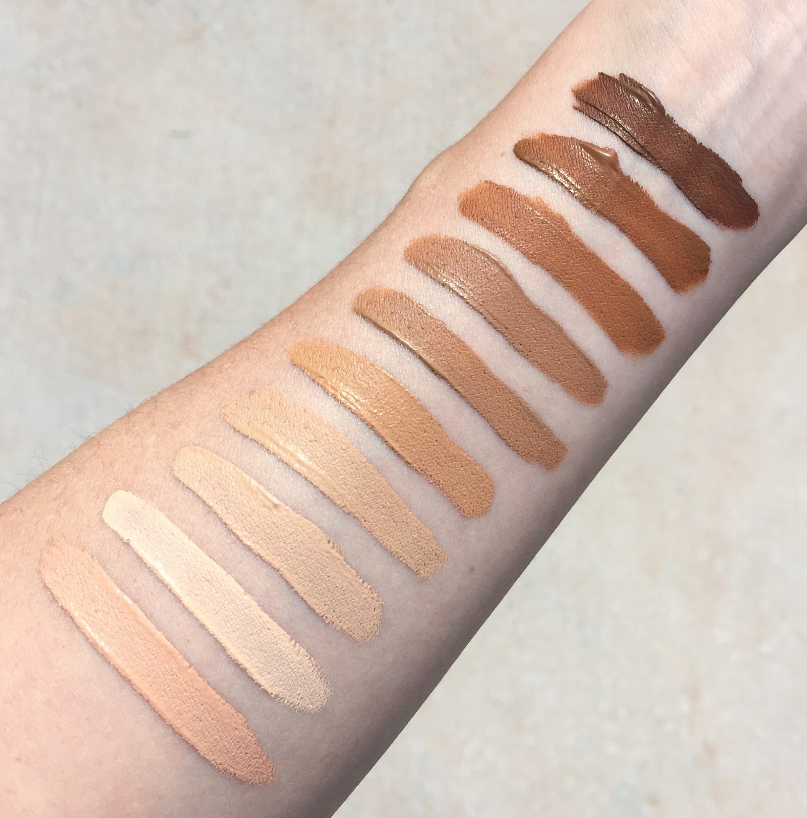 Review of the Kevyn Aucoin Etherealist Super Natural Concealers with swatches of all shades.