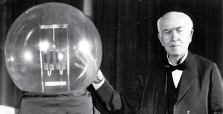 There were gas lights in thos days. He thought to invent a bulb as an alternative and also at low cost. He lighted up all the lives. He invented the long lasting electric bulb. Even now we are living un the lighting of that bulb. Sun is the bulb created by God, but gives only for 12 hours. But the bulb invented by Edison will give the light for 24 hours.