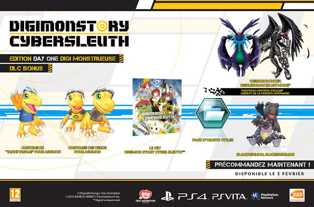 Digimon Story Cyber Sleuth Edition Day One (PS4, PS Vita)