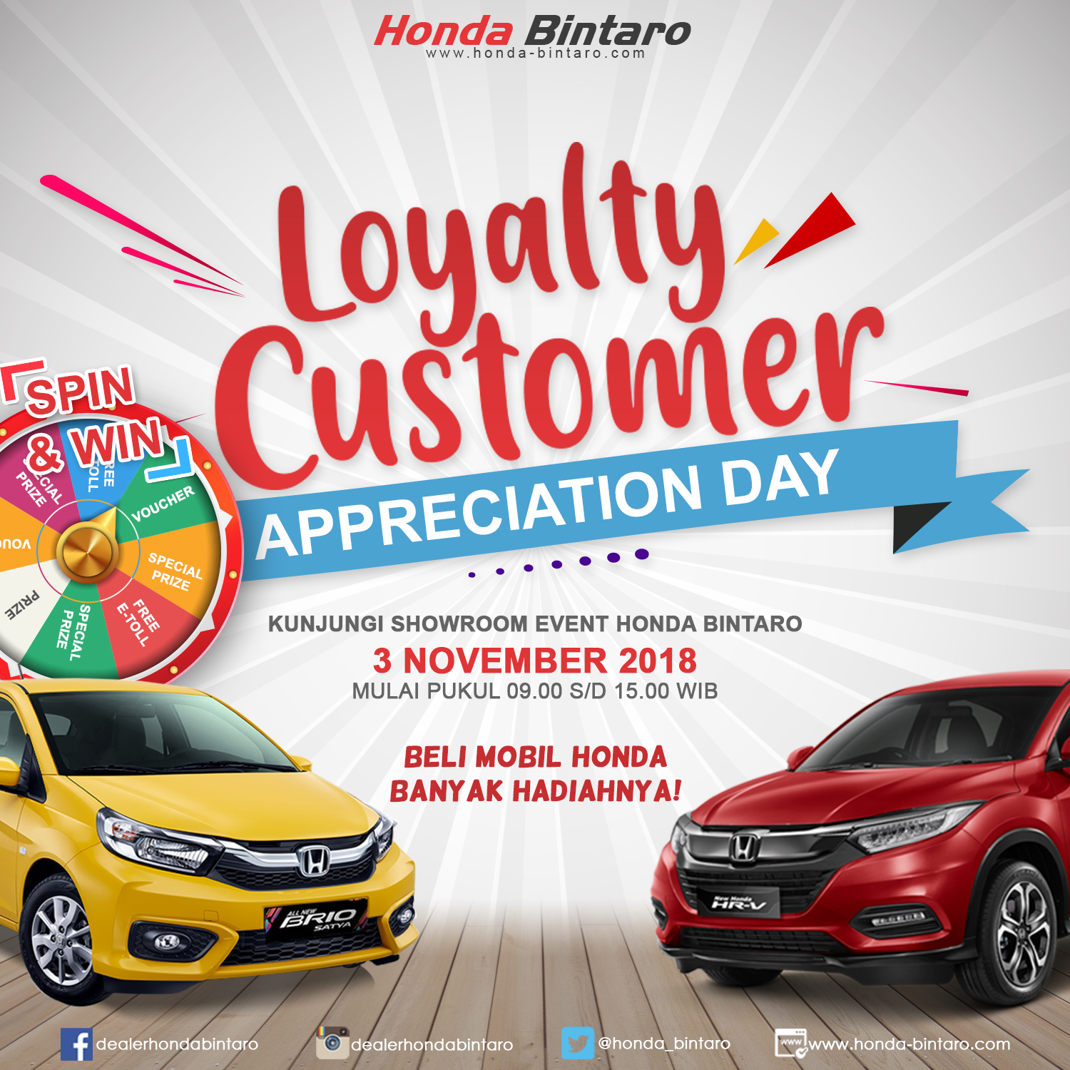 Showroom Event Honda Bintaro 3 November 2018