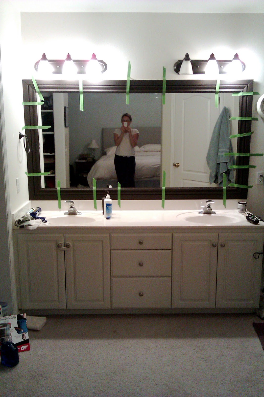 Happy Habits: Tutorial: Adding Molding to a Builder Grade ...