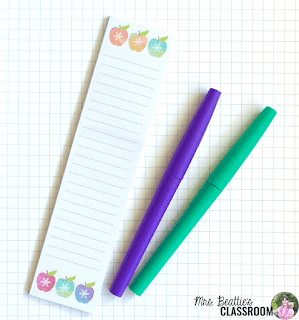Photo of Erin Condren stylized sticky notepad