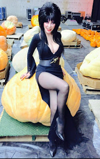 Elvira and her pumpkins