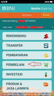 Beli token listrik di mobile banking